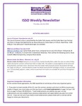 ISSO Weekly Newsletter, July 18, 2019