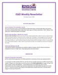 ISSO Weekly Newsletter, July 25, 2019