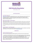 ISSO Weekly Newsletter, August 1, 2019