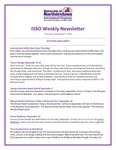 ISSO Weekly Newsletter, September 5, 2019 by University of Northern Iowa. International Students and Scholars Office.