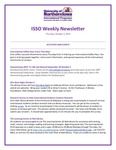 ISSO Weekly Newsletter, October 3, 2019