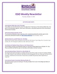 ISSO Weekly Newsletter, October 17, 2019 by University of Northern Iowa. International Students and Scholars Office.