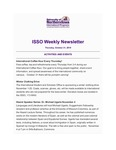 ISSO Weekly Newsletter, October 31, 2019 by University of Northern Iowa. International Students and Scholars Office.