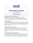 ISSO Weekly Newsletter, November 8, 2019 by University of Northern Iowa. International Students and Scholars Office.