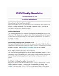 ISSO Weekly Newsletter, November 14, 2019 by University of Northern Iowa. International Students and Scholars Office.