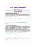 ISSO Weekly Newsletter, November 21, 2019 by University of Northern Iowa. International Students and Scholars Office.