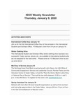 ISSO Weekly Newsletter, January 9, 2020 by University of Northern Iowa. International Students and Scholars Office.