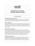 ISSO Weekly Newsletter, January 16, 2020 by University of Northern Iowa. International Students and Scholars Office.
