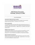 ISSO Weekly Newsletter, January 23, 2020 by University of Northern Iowa. International Students and Scholars Office.
