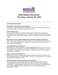 ISSO Weekly Newsletter, January 30, 2020 by University of Northern Iowa. International Students and Scholars Office.