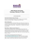 ISSO Weekly Newsletter, February 13, 2020 by University of Northern Iowa. International Students and Scholars Office.