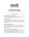 ISSO Weekly Newsletter, February 20, 2020 by University of Northern Iowa. International Students and Scholars Office.