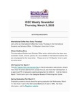 ISSO Weekly Newsletter, March 5, 2020 by University of Northern Iowa. International Students and Scholars Office.