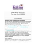 ISSO Weekly Newsletter, March 26, 2020 by University of Northern Iowa. International Students and Scholars Office.