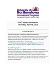 ISSO Weekly Newsletter, April 16, 2020 by University of Northern Iowa. International Students and Scholars Office.