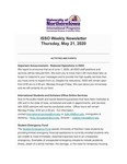 ISSO Weekly Newsletter, May 21, 2020 by University of Northern Iowa. International Students and Scholars Office.