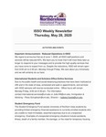 ISSO Weekly Newsletter, May 28, 2020 by University of Northern Iowa. International Students and Scholars Office.