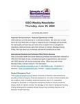 ISSO Weekly Newsletter, June 25, 2020 by University of Northern Iowa. International Students and Scholars Office.