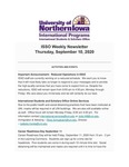 ISSO Weekly Newsletter, September 10, 2020