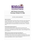 ISSO Weekly Newsletter, October 22, 2020 by University of Northern Iowa. International Students and Scholars Office.
