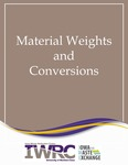 Material Weights and Conversions by Iowa Waste Reduction Center and Iowa Waste Exchange