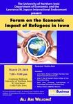 Jepson Forum, Flier, Spring 2018 by University of Northern Iowa. Department of Economics.