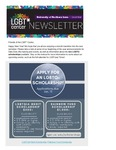 LGBT* Center Newsletter, January 2018 by University of Northern Iowa. LGBT* Center.