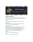 LGBT* Center Newsletter, April 2018 by University of Northern Iowa. LGBT* Center.