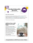 Gender & Sexuality Services Newsletter, October 2018