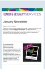 Gender & Sexuality Services Newsletter, January 2021