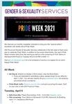 Gender & Sexuality Services Newsletter, Pride Week 2021
