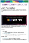 Gender & Sexuality Services Newsletter, April 2021