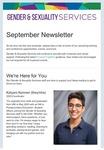Gender & Sexuality Services Newsletter, September 2021