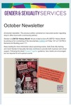 Gender & Sexuality Services Newsletter, October 2021
