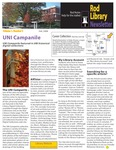 Rod Library Newsletter: Rod Notes, v1n3, November 2008 by University of Northern Iowa. Rod Library.