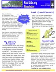 Rod Library Newsletter: Rod Notes, v4n2, October 2011