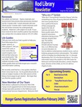 Rod Library Newsletter: Rod Notes, v4n6, February 2012