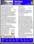 Rod Library Newsletter: Rod Notes, v4n8, April 2012