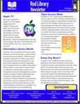 Rod Library Newsletter: Rod Notes, v6n3, October 2013 by University of Northern Iowa. Rod Library.