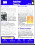 Rod Library Newsletter: Rod Notes, v7n3, October 2014 by University of Northern Iowa. Rod Library.