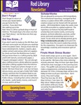 Rod Library Newsletter: Rod Notes, v7n9, May 2015 by University of Northern Iowa. Rod Library.