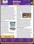 Rod Library Newsletter: Rod Notes, v9n1, August 2016 by University of Northern Iowa. Rod Library.