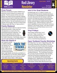 Rod Library Newsletter: Rod Notes, v9n3, October 2016 by University of Northern Iowa. Rod Library.