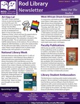 Rod Library Newsletter: Notes for the Stalled, v9n8, April 2017 by University of Northern Iowa. Rod Library.