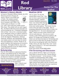 Rod Library: Notes for the Stalled, v10n8, March 2018 by University of Northern Iowa. Rod Library.