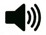 Audio speaker logo - .75 inch width