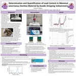 Determination and Quantification of Lead Content in Mammut americanus Dentine Material by Anodic Stripping Voltammetry