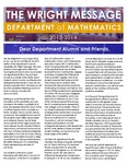 The Wright Message, 2013-2014 by University of Northern Iowa. Department of Mathematics.