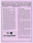 Elementary Newsletter, v2n9, May 1, 1990 by Malcolm Price Laboratory School