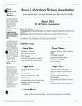Price Laboratory School Newsletter, v11n7, March 2001 by Malcolm Price Laboratory School